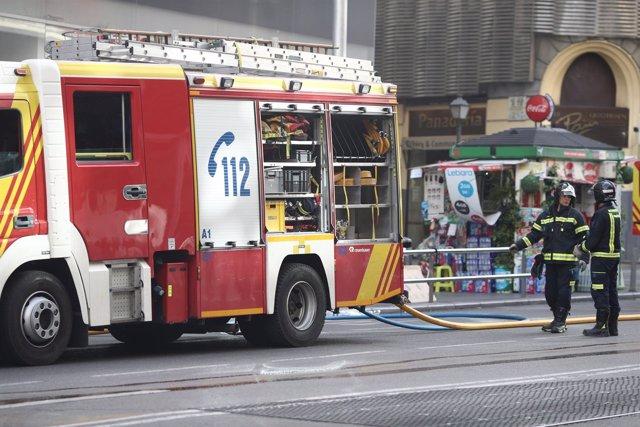 Camión de bomberos de Madrid, bombero