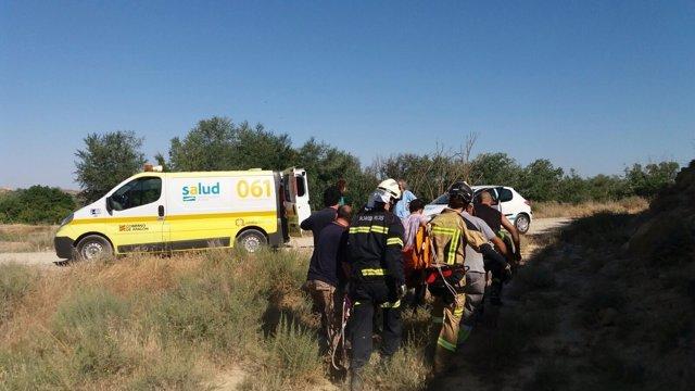 Herido un motorista tras salirse de la vía, en la A-221 a la altura de Sástago.