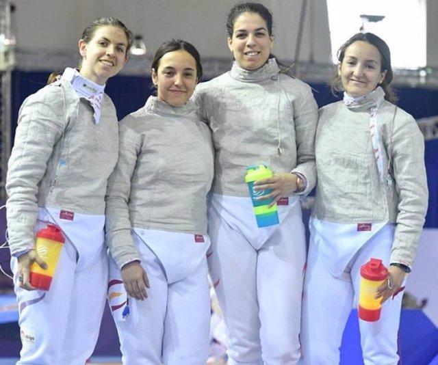 Laia Vila Lucía Martín-Portugués Sandra Marcos Celia Pérez Cuenca equipo sable
