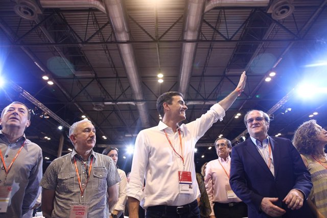 Pedro Sánchez durante el Congreso del PSOE