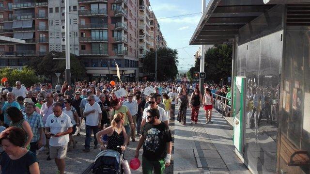 Manifestación promovida por Jaén Merece Más