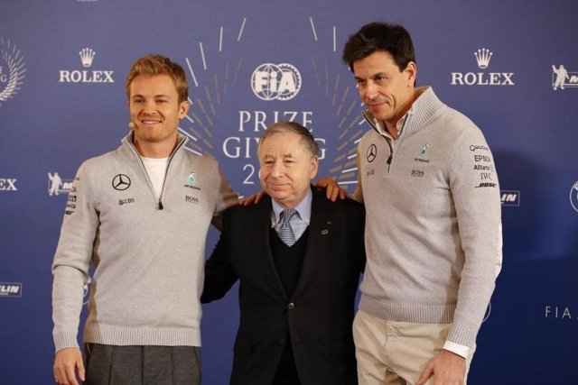 Jean Todt Nico Rosberg Toto Wolff