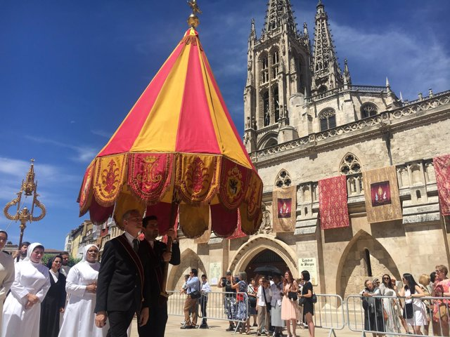 Burgos. Procesión del Corpus Christi