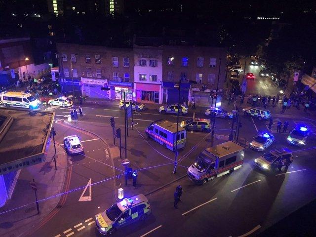 Vista de la calle Seven Sisters, donde ha tenido lugar el atropello.
