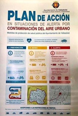 Hoja informativa del corte al tráfico en Valladolid