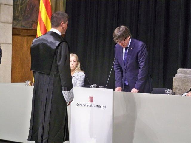 Toma de posesión de Francesc Esteve como miembro de la Comisió Jurídica Asesora