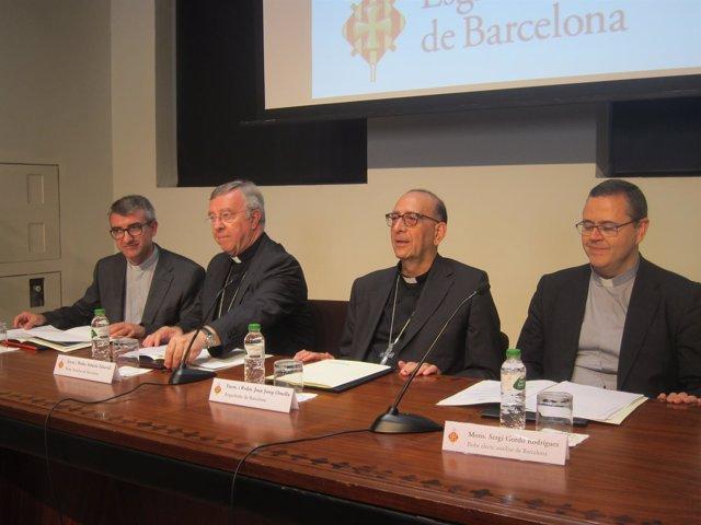 A.Vadell, S.Taltavull, J.J.Omella, S.Gordo, arzobispos de Barcelona