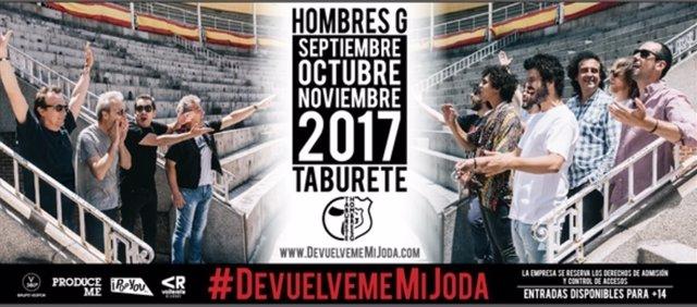HOMBRES G Y TABURETE