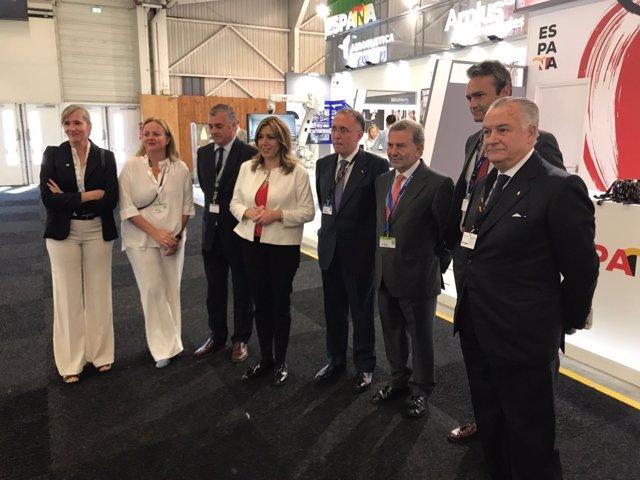 Susana Díaz visita el Salón Internacional de la Aeronáutica de París-Le Bourget