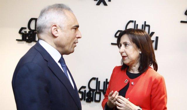 Rafael Simancas y Margarita Robles en un acto