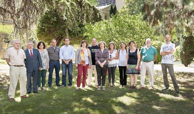 Elizalde con los representantes municipales