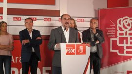 """Lambán afirma que le parecería """"bien"""" que Susana Sumelzo optara a liderar el PSOE Aragón"""