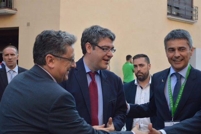 Enric Millo, Álvaro Nadal y Vicenç Voltes