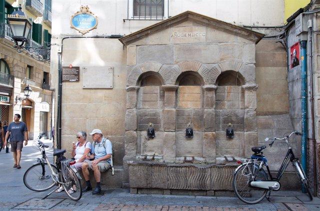 Fuente en el casco viejo