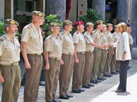 Dolores de Cospedal preside el Consejo Superior del Ejército en Barcelona, donde no se reunía desde 2001