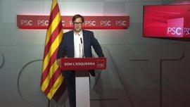 """El PSC exige a Puigdemont disculparse por """"comparar"""" el soberanismo con la lucha contra ETA"""