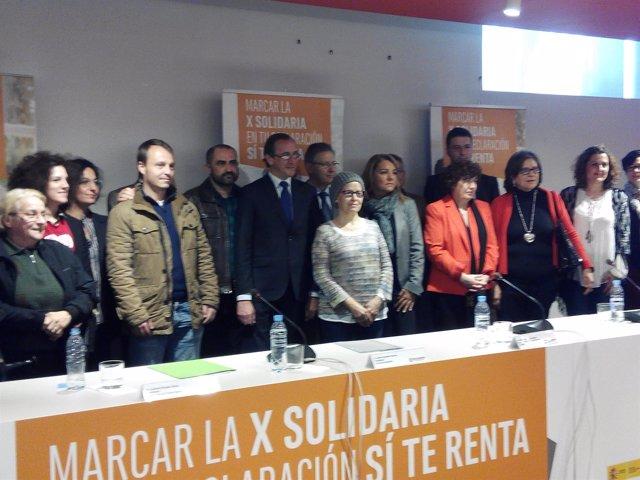 """Presentación de la campaña """"X Solidaria"""" 2016."""