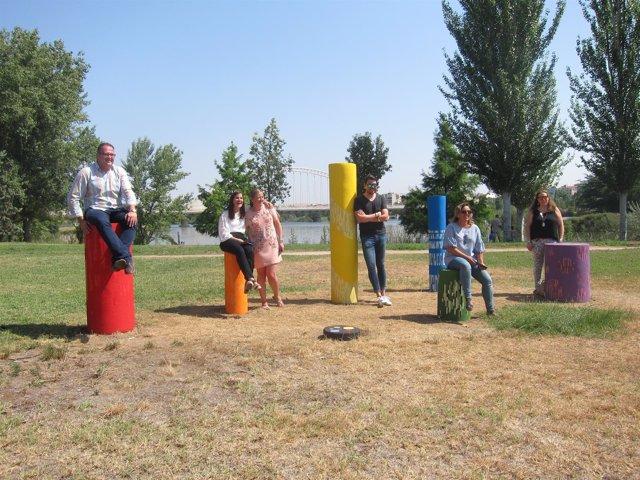 Inauguración del 'Monumento a la Diversidad' en el Parque de las Siete Sillas