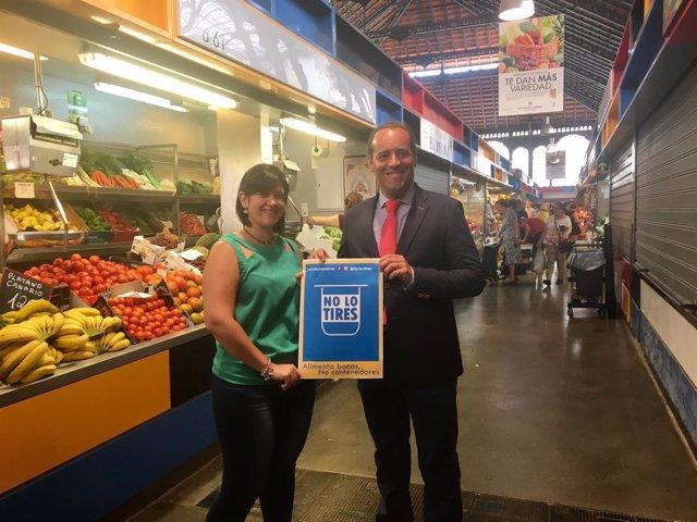 Juan Cassá campaña alimenta bocas no contenedores no tirar comida a basura donar