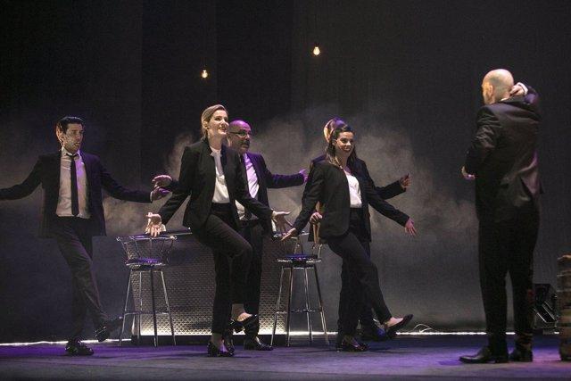 Escena de 'Iberian Gangster', en el Teatro Pavón Kamikaze