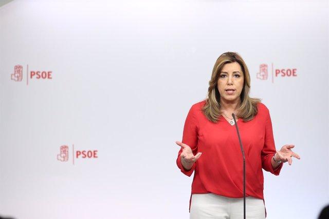 Susana Díaz tras el debate con los candidatos a liderar el PSOE