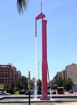 La fuente de la Pantera Rosa en València