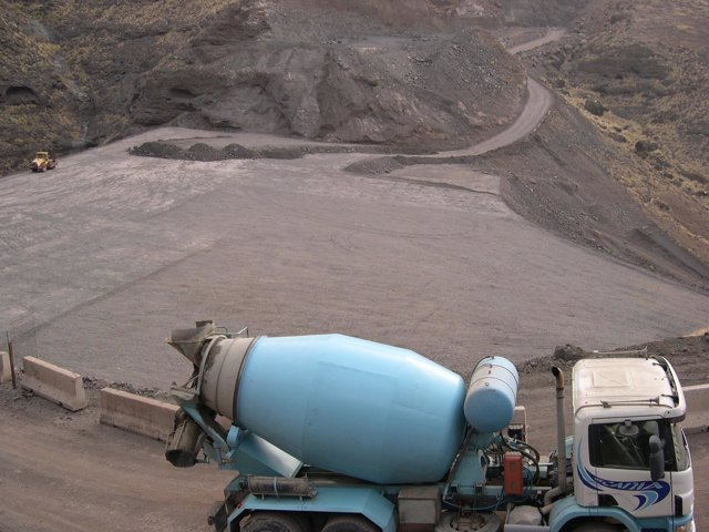 Obras en la carretera de La Aldea