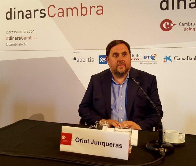 El conseller de Economía y vicepresidente de la Generalitat, Oriol Junqueras