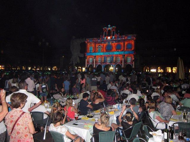 Plaza Mayor de Salamanca durante el II Festival de Luz y Vanguardias