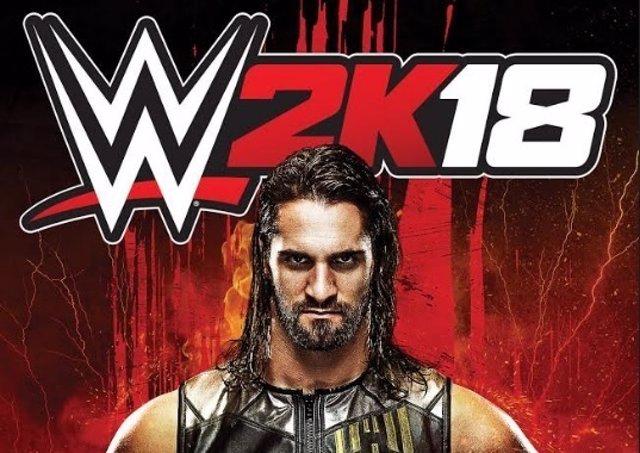 Seth Rollins en la portada de WWE 2K18