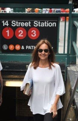 La escritora Marñia Dueñas en Nueva York