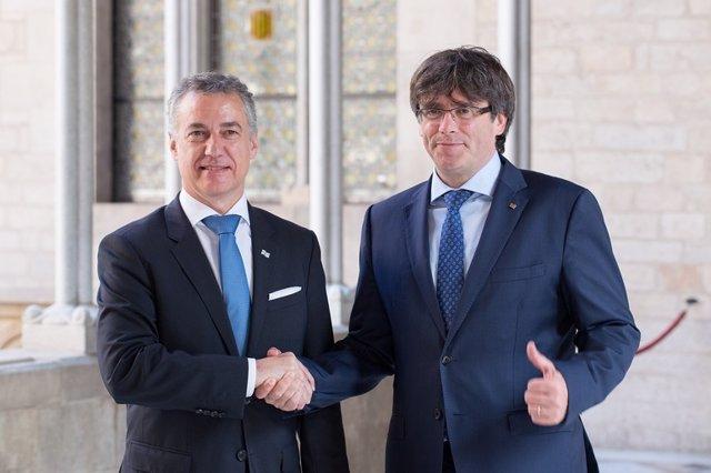 Iñigo Urkullu y Carles Puigdemont