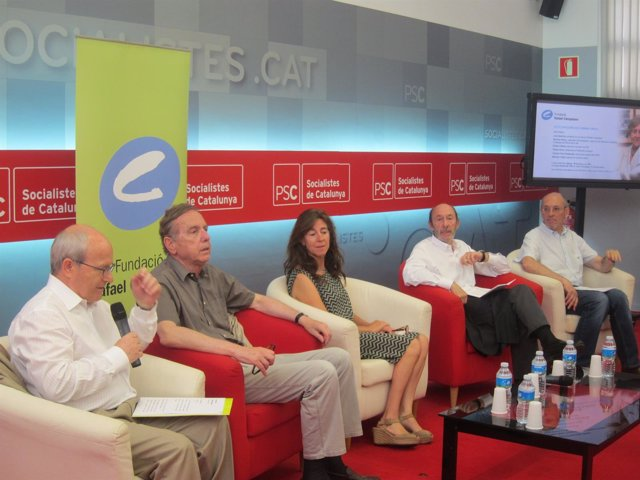 J.Montilla, R.Obiols, M.Virgili, A.Pérez Rubalcaba i M.Març
