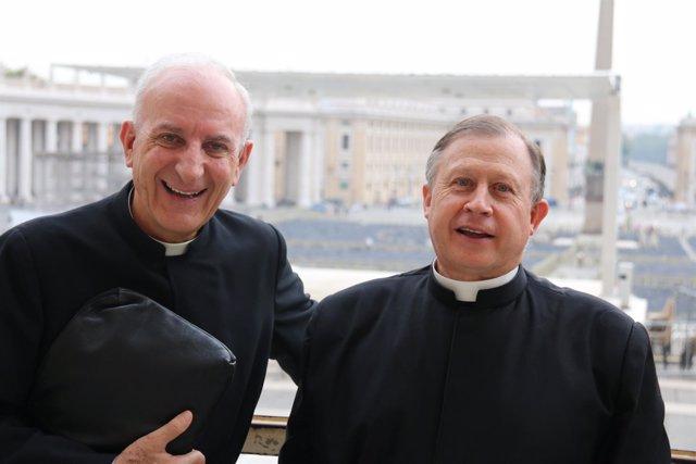 Carlos Zancajo y Eduardo Robles Gil en Roma