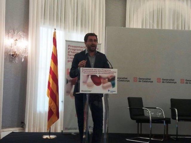 L'conseller de Salut de la Generalitat, Toni Comín