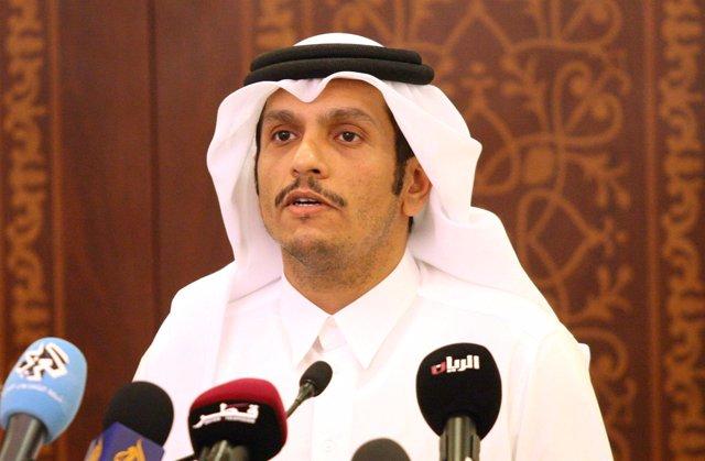 El ministro de Exteriores de Qatar Mohamed bin Abdulrahman al Zani