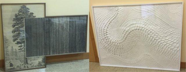 Obra 'Árbol', de Javier Arce, y 'Transhumancia 13' de Ignacio Zubelzu