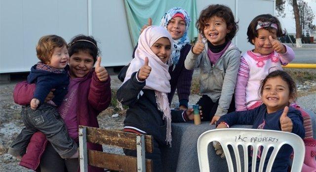 Última acción solidaria de Creativos en Acción en el campo de Alexandría