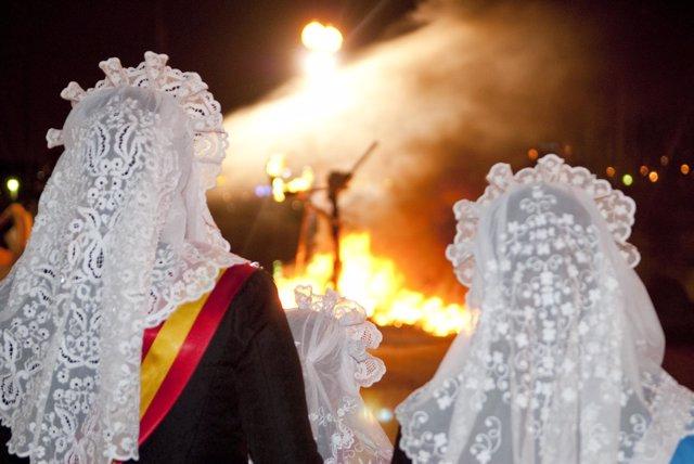 Imagen de las Fogueres de Sant Joan
