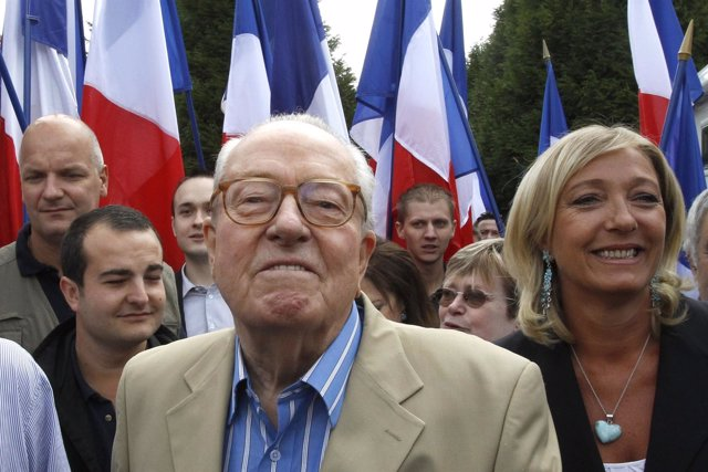 Marine Le Pen, con su padre, Jean Marie Le Pen