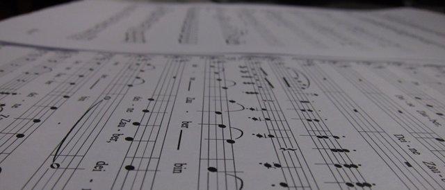 Imagen de archivo de una partitura