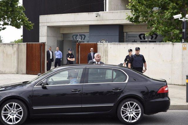 Javier Arenas sale de la Audiencia Nacional tras declarar por Gürtel