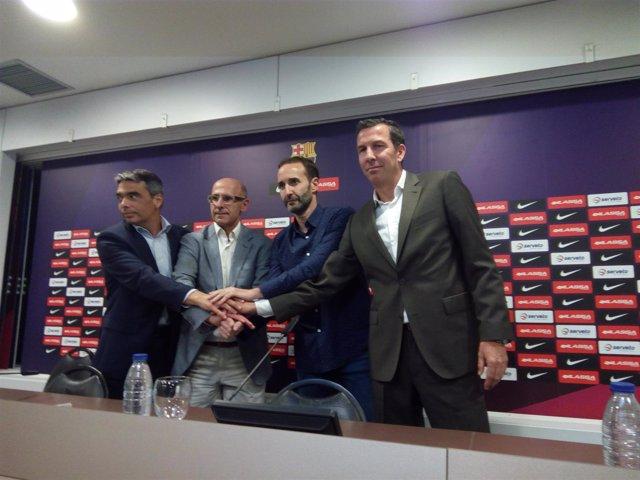 Sito Alonso se presenta con el FC Barcelona