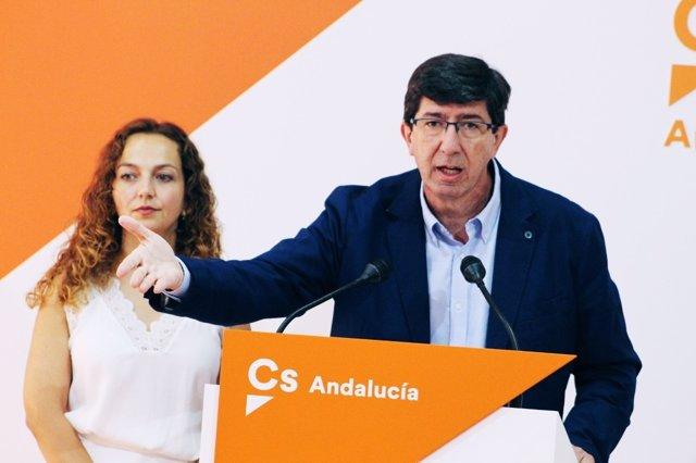 Juan Marín, hoy junto a Marta Escrivá