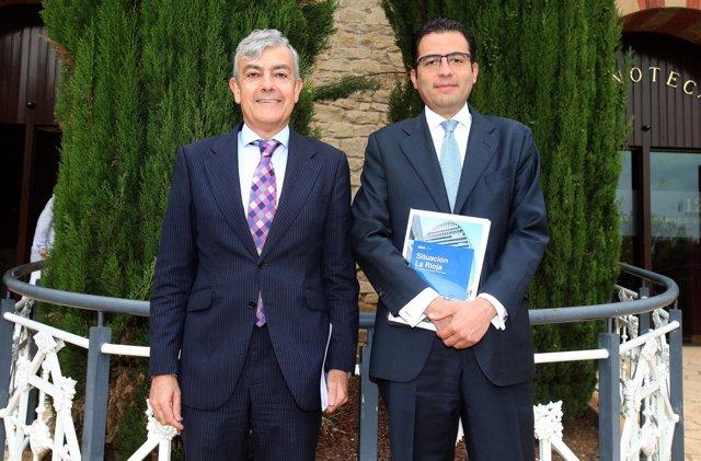 Carlos Gorria, director Territorial Norte de BBVA, y Miguel Cardoso, economista
