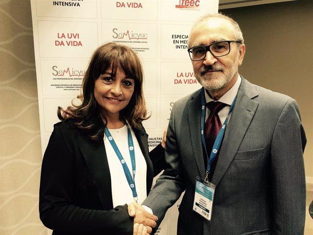 La doctora Martín delegado y el doctor  Fernández Mondéjar