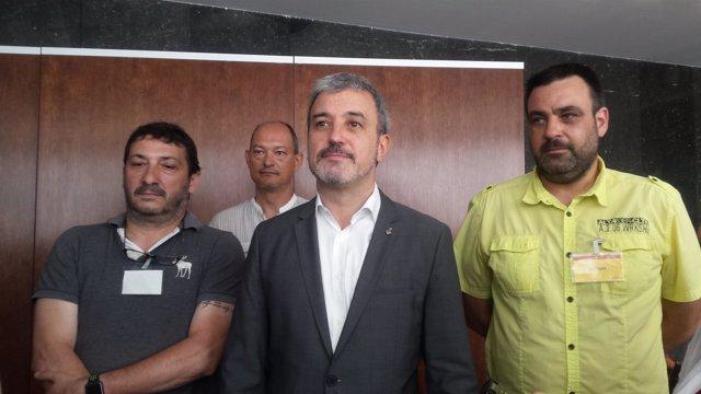 J.Collboni con miembros del comité de empresa de B:SM