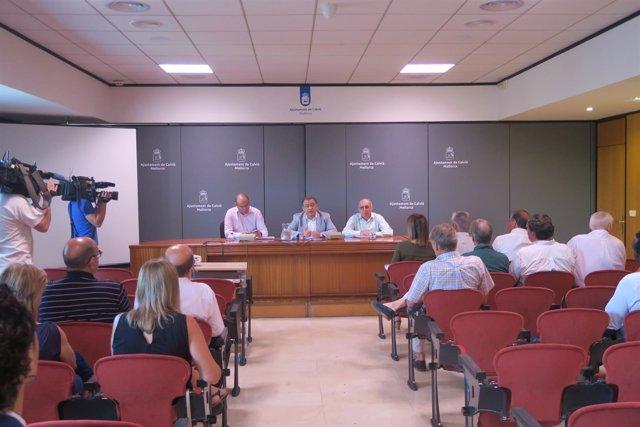 El alcalde de Calvià reunión con hoteleros