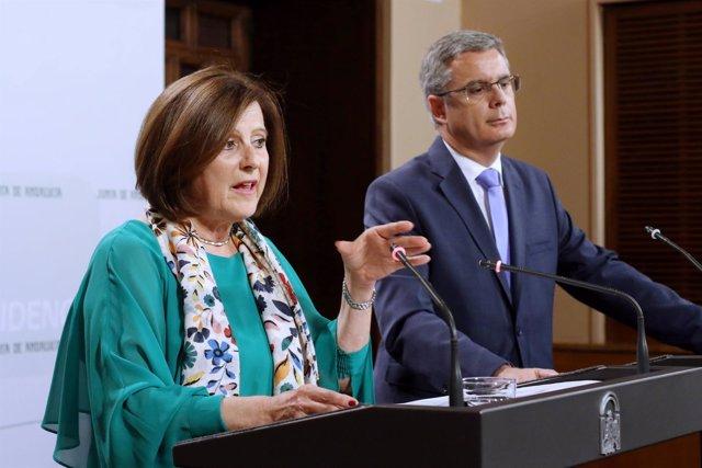 Sánchez Rubio y Blanco en rueda de prensa en San Telmo