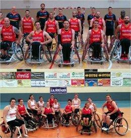 Selección masculina y femenina española en silla de ruedas